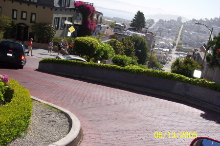 Going Down Lombard Street..... San Francisco's Crookedest Street